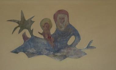 Jan Dijker muurschildering in keuken oude pastorie